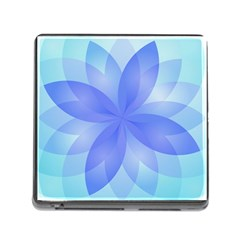 Abstract Lotus Flower 1 Memory Card Reader (square) by MedusArt