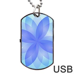 Abstract Lotus Flower 1 Dog Tag Usb Flash (one Side) by MedusArt