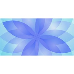 Abstract Lotus Flower 1 You Are Invited 3d Greeting Card (8x4)  by MedusArt