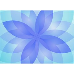 Abstract Lotus Flower 1 Birthday Cake 3d Greeting Card (7x5)  by MedusArt