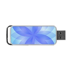 Abstract Lotus Flower 1 Portable Usb Flash (two Sides) by MedusArt