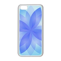 Abstract Lotus Flower 1 Apple Iphone 5c Seamless Case (white) by MedusArt