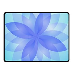 Abstract Lotus Flower 1 Double Sided Fleece Blanket (small)  by MedusArt