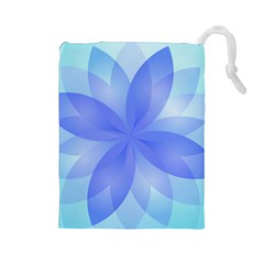 Abstract Lotus Flower 1 Drawstring Pouches (large)  by MedusArt