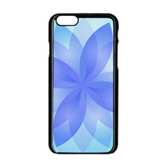 Abstract Lotus Flower 1 Apple Iphone 6/6s Black Enamel Case by MedusArt