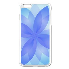 Abstract Lotus Flower 1 Apple Iphone 6 Plus/6s Plus Enamel White Case by MedusArt