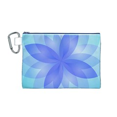 Abstract Lotus Flower 1 Canvas Cosmetic Bag (m) by MedusArt