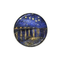 Vincent Van Gogh Starry Night Over The Rhone Hat Clip Ball Marker (10 Pack) by MasterpiecesOfArt