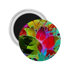 Floral Abstract 1 2 25  Magnets by MedusArt