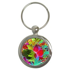 Floral Abstract 1 Key Chains (round)  by MedusArt