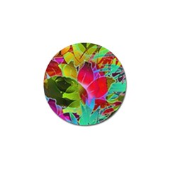 Floral Abstract 1 Golf Ball Marker (4 Pack) by MedusArt