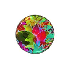 Floral Abstract 1 Hat Clip Ball Marker (4 Pack) by MedusArt