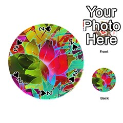 Floral Abstract 1 Playing Cards 54 (round)  by MedusArt