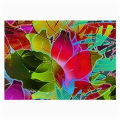 Floral Abstract 1 Large Glasses Cloth by MedusArt