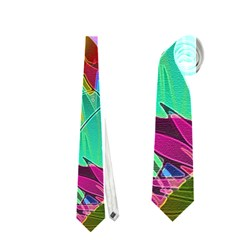 Floral Abstract 1 Neckties (one Side)  by MedusArt