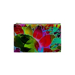 Floral Abstract 1 Cosmetic Bag (small)  by MedusArt