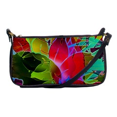 Floral Abstract 1 Shoulder Clutch Bags by MedusArt