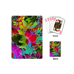 Floral Abstract 1 Playing Cards (mini)  by MedusArt