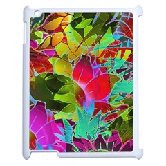 Floral Abstract 1 Apple Ipad 2 Case (white) by MedusArt
