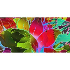Floral Abstract 1 You Are Invited 3d Greeting Card (8x4)  by MedusArt