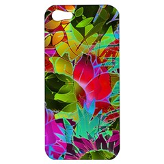 Floral Abstract 1 Apple Iphone 5 Hardshell Case by MedusArt