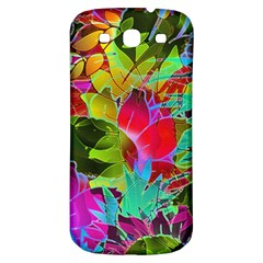 Floral Abstract 1 Samsung Galaxy S3 S Iii Classic Hardshell Back Case by MedusArt