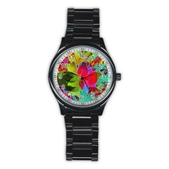 Floral Abstract 1 Stainless Steel Round Watches by MedusArt