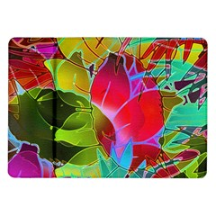 Floral Abstract 1 Samsung Galaxy Tab 10 1  P7500 Flip Case by MedusArt