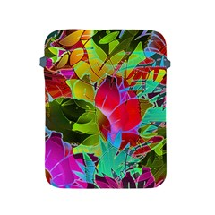 Floral Abstract 1 Apple Ipad 2/3/4 Protective Soft Cases by MedusArt