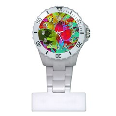 Floral Abstract 1 Nurses Watches by MedusArt
