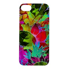 Floral Abstract 1 Apple Iphone 5s Hardshell Case by MedusArt