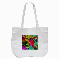 Floral Abstract 1 Tote Bag (white)  by MedusArt