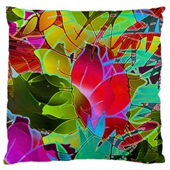 Floral Abstract 1 Standard Flano Cushion Cases (one Side)  by MedusArt