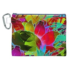 Floral Abstract 1 Canvas Cosmetic Bag (xxl)  by MedusArt