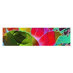 Floral Abstract 1 Satin Scarf (oblong) by MedusArt