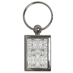 Drawing Floral Doodle 1 Key Chains (rectangle)  by MedusArt