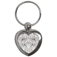 Drawing Floral Doodle 1 Key Chains (heart)  by MedusArt