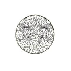 Drawing Floral Doodle 1 Hat Clip Ball Marker by MedusArt