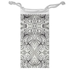 Drawing Floral Doodle 1 Jewelry Bags by MedusArt
