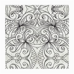 Drawing Floral Doodle 1 Medium Glasses Cloth by MedusArt
