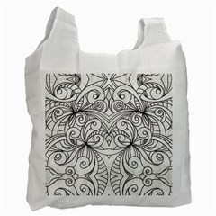 Drawing Floral Doodle 1 Recycle Bag (two Side)  by MedusArt