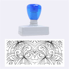 Drawing Floral Doodle 1 Rubber Stamps (large) by MedusArt