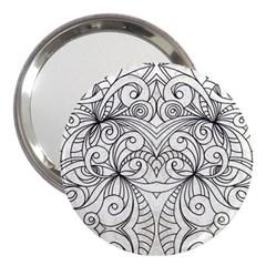 Drawing Floral Doodle 1 3  Handbag Mirrors by MedusArt