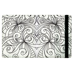 Drawing Floral Doodle 1 Apple Ipad 3/4 Flip Case by MedusArt