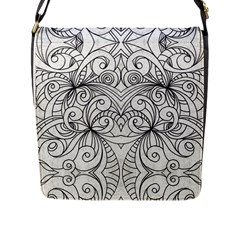 Drawing Floral Doodle 1 Flap Messenger Bag (l)  by MedusArt