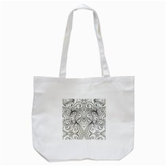 Drawing Floral Doodle 1 Tote Bag (white)  by MedusArt