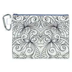 Drawing Floral Doodle 1 Canvas Cosmetic Bag (xxl)  by MedusArt