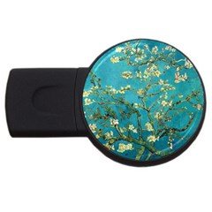 Blossoming Almond Tree USB Flash Drive Round (2 GB)  by MasterpiecesOfArt
