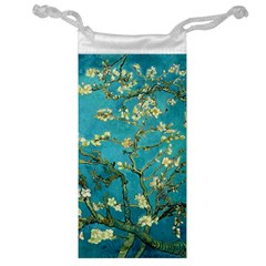 Blossoming Almond Tree Jewelry Bags by MasterpiecesOfArt