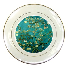 Blossoming Almond Tree Porcelain Plates by MasterpiecesOfArt